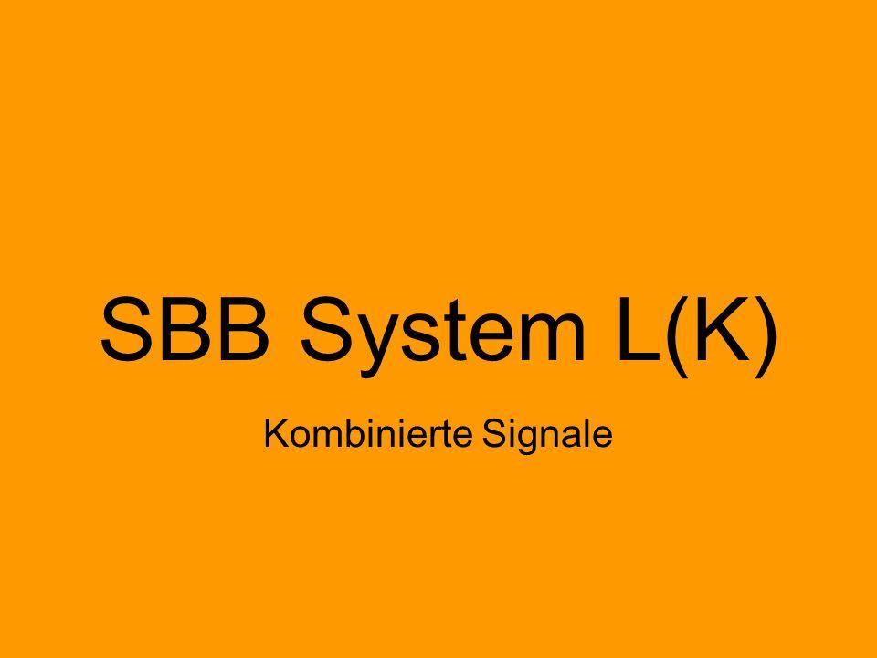 Einabschnittssignalisierung Mehrabschnittssignalisierung H/V Hp L ÖBB L(K) N Ks E Reine Zugfolgesignalisierung Zugfolgesignalisierung mit integrierter Geschwindigkeitssignalisierung SBB System L(K) F1, F2, F3, F5 Hp1 Hp2 F1, F2, F3 Einlichtsystem