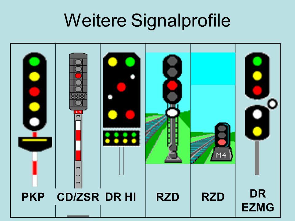 Weitere Signalprofile DR Hl DR EZMG RZD PKP RZD CD/ZSR