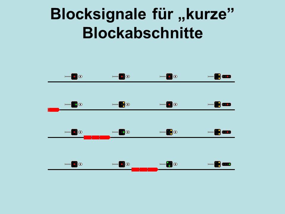"""Blocksignale für """"kurze"""" Blockabschnitte"""