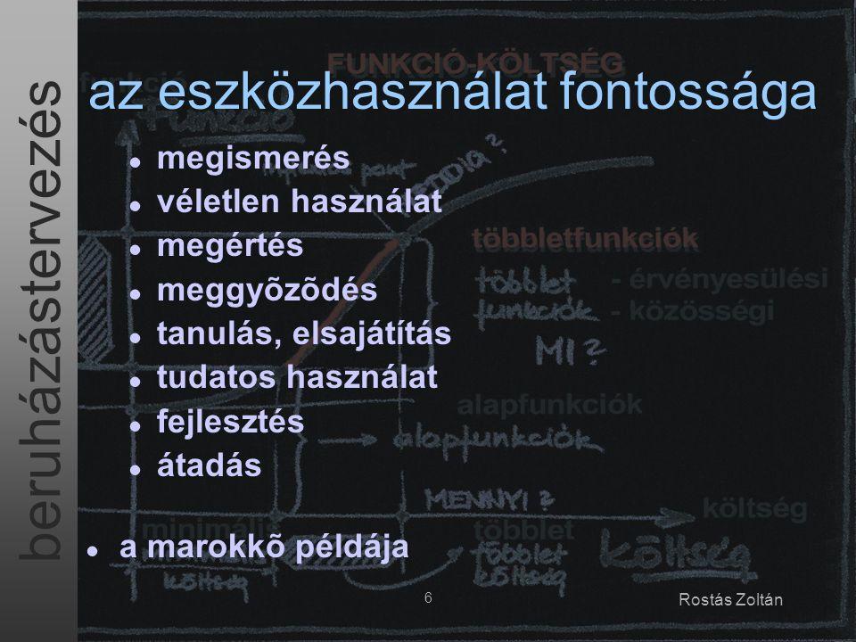 beruházástervezés 7 Rostás Zoltán módszertani útmutató