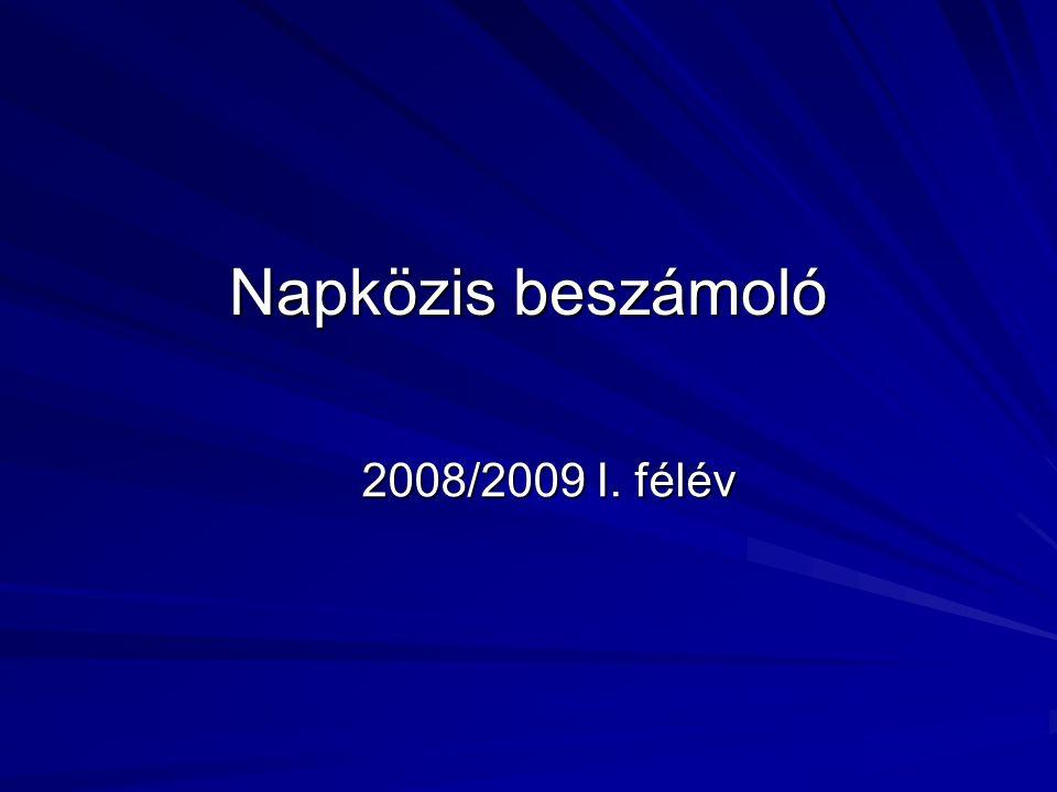 Napközis beszámoló 2008/2009 I. félév