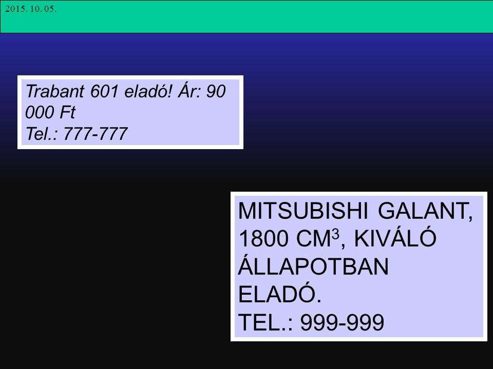 Trabant 601 eladó.