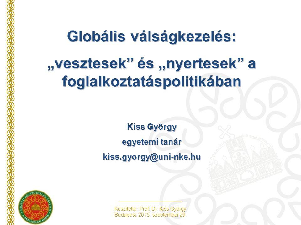 Készítette: Prof.Dr. Kiss György Budapest, 2015. szeptember 29.