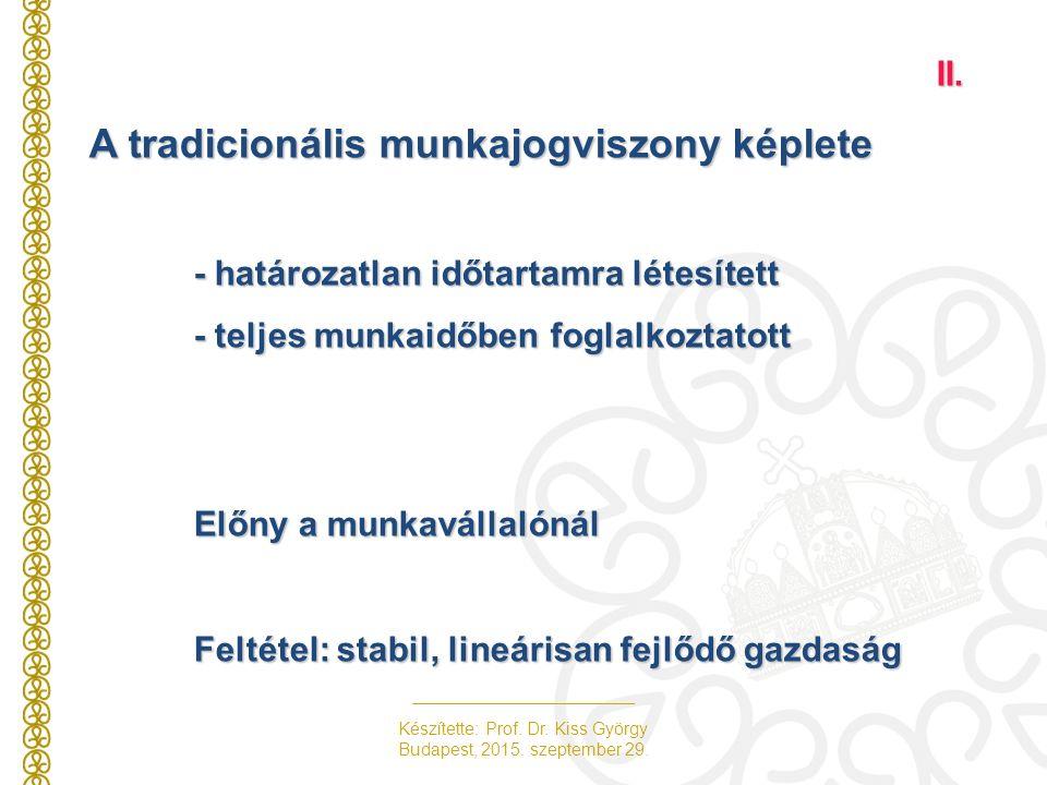 Készítette: Prof. Dr. Kiss György Budapest, 2015.