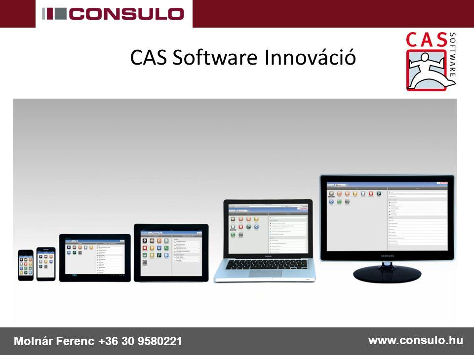 CAS Software Innováció www.consulo.hu Molnár Ferenc +36 30 9580221
