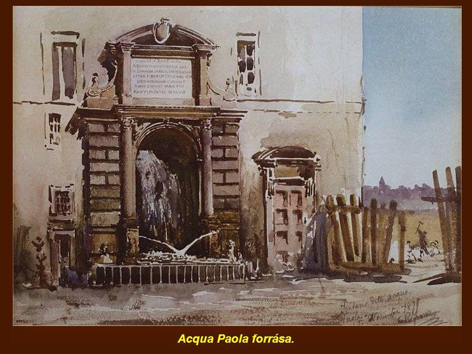 Acqua Paola forrása.