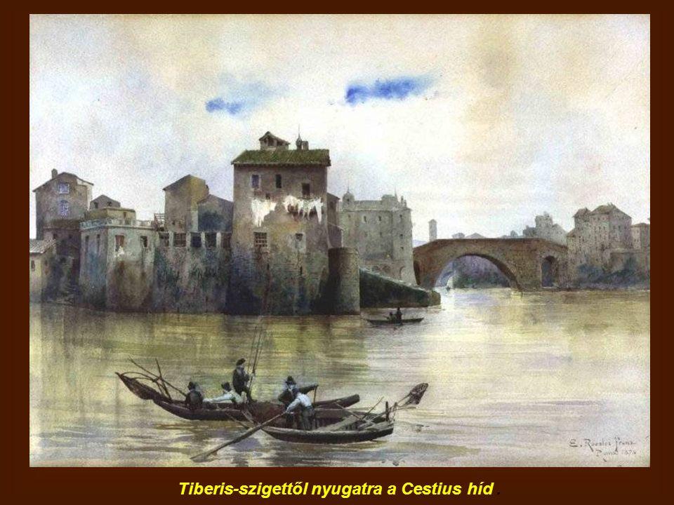 Tiberis-szigettől nyugatra a Cestius híd.