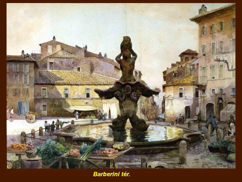 Matilde grófnő tornya a Tiberis-szigeten, jobbra a Fabricio híd.