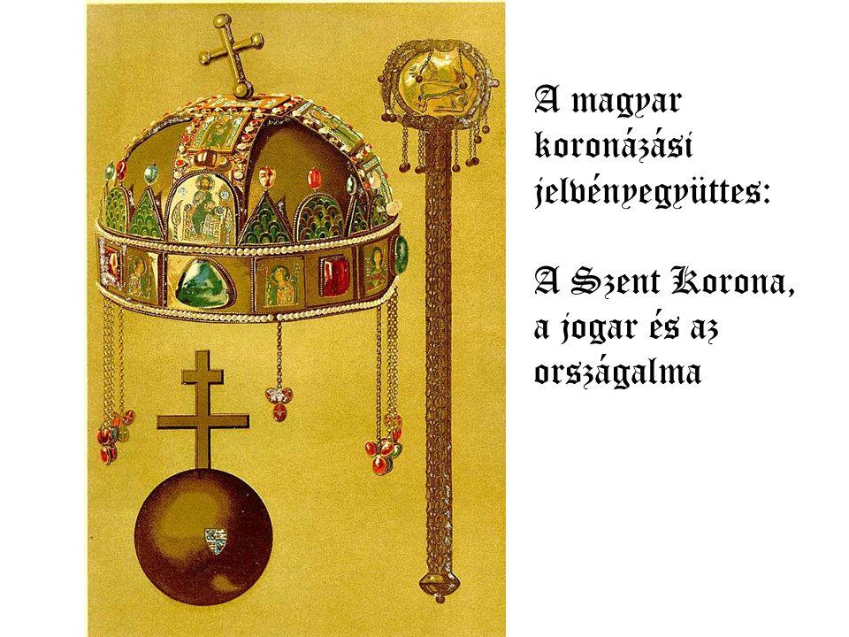 A corona latina, vagyis a keresztpánt apostolokat ábrázoló lemezei.