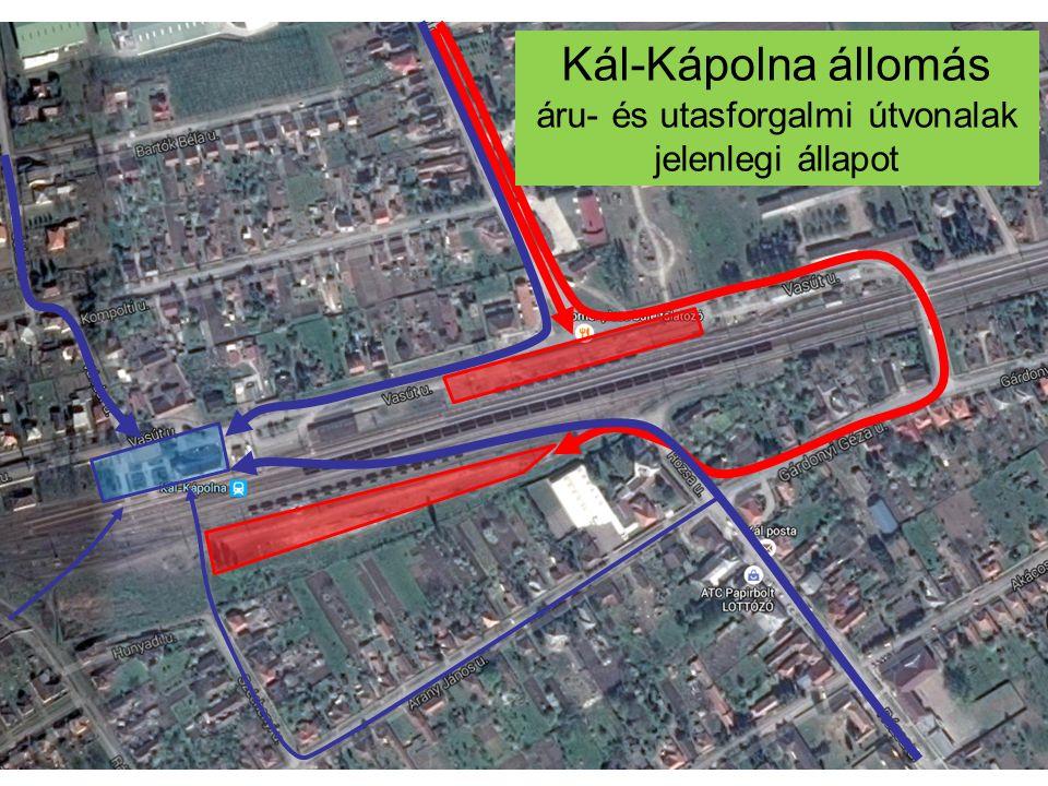 Kál-Kápolna állomás áru- és utasforgalmi útvonalak jelenlegi állapot
