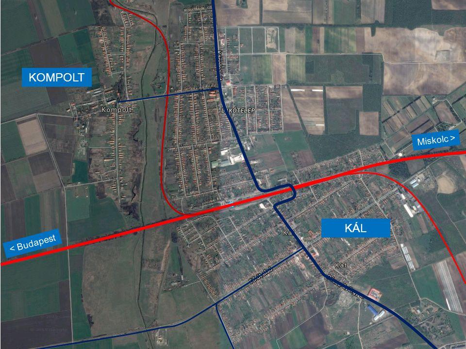 KÁL-KÁPOLNA ÁLLOMÁS MEGOLDANDÓ PROBLÉMÁI -A vasút részéről -A közúti keresztezés kettészeli az állomást -A vágányok használható hossza korlátozott -Az utasok részéről -Akadálymentesség hiánya -A peronok körülményes megközelítése -A közút részéről -Gyakori torlódás az átjáróban -A környéken lakók részéről -Vasúti zaj és rezgés -Közúti károsanyag-kibocsátás