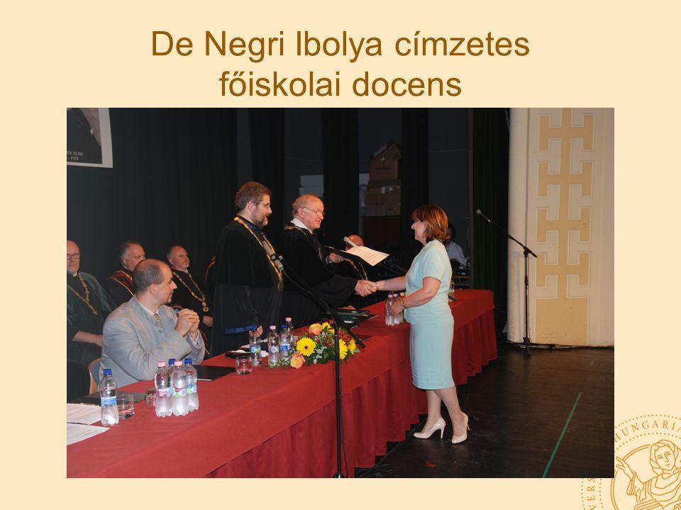 De Negri Ibolya címzetes főiskolai docens
