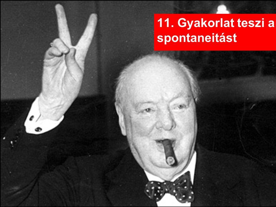 11. Gyakorlat teszi a spontaneitást