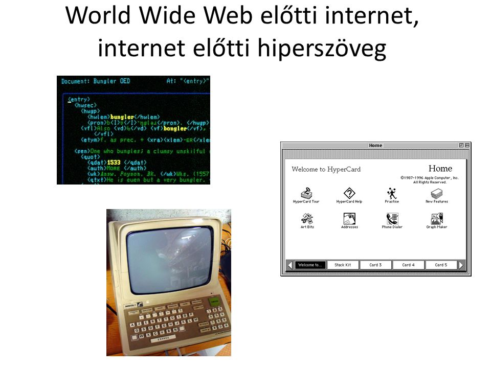 World Wide Web előtti internet, internet előtti hiperszöveg