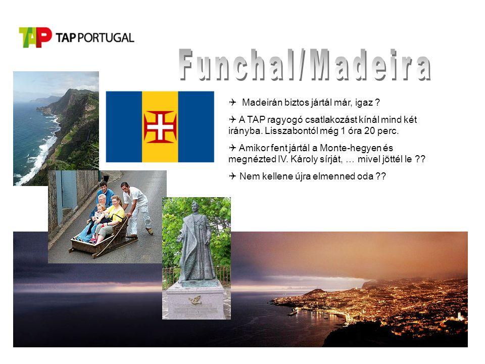  Madeirán biztos jártál már, igaz .  A TAP ragyogó csatlakozást kínál mind két irányba.