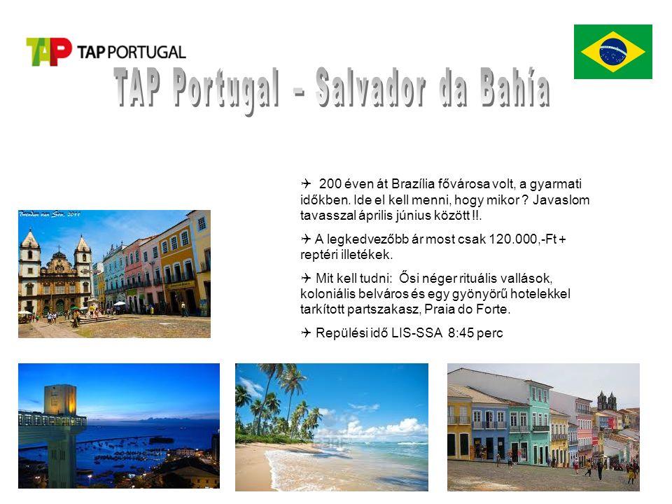  200 éven át Brazília fővárosa volt, a gyarmati időkben.