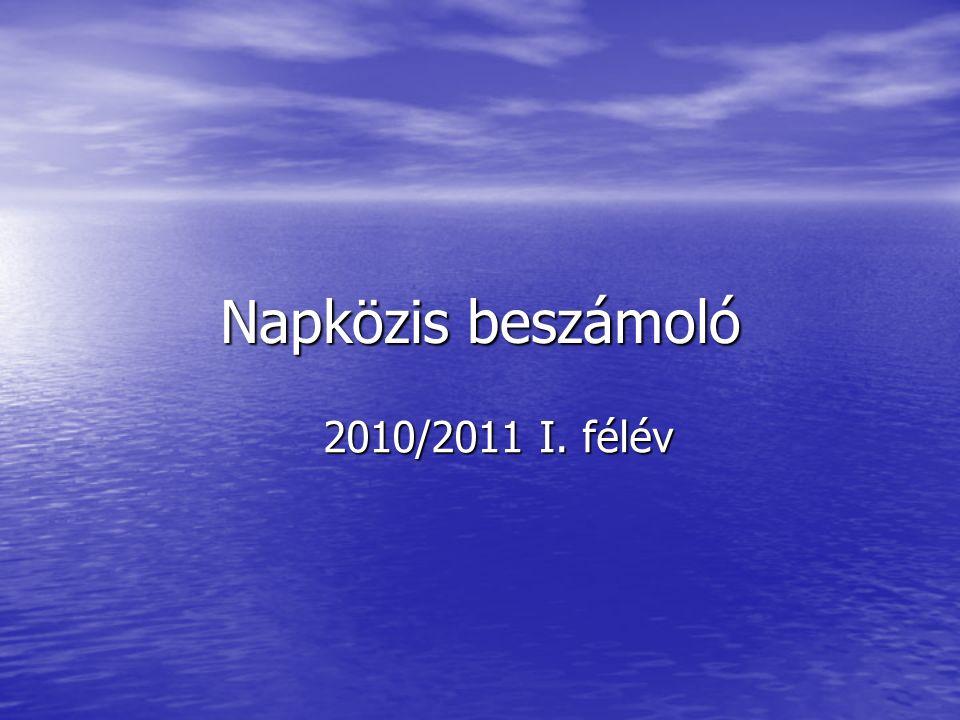 Napközis beszámoló 2010/2011 I. félév