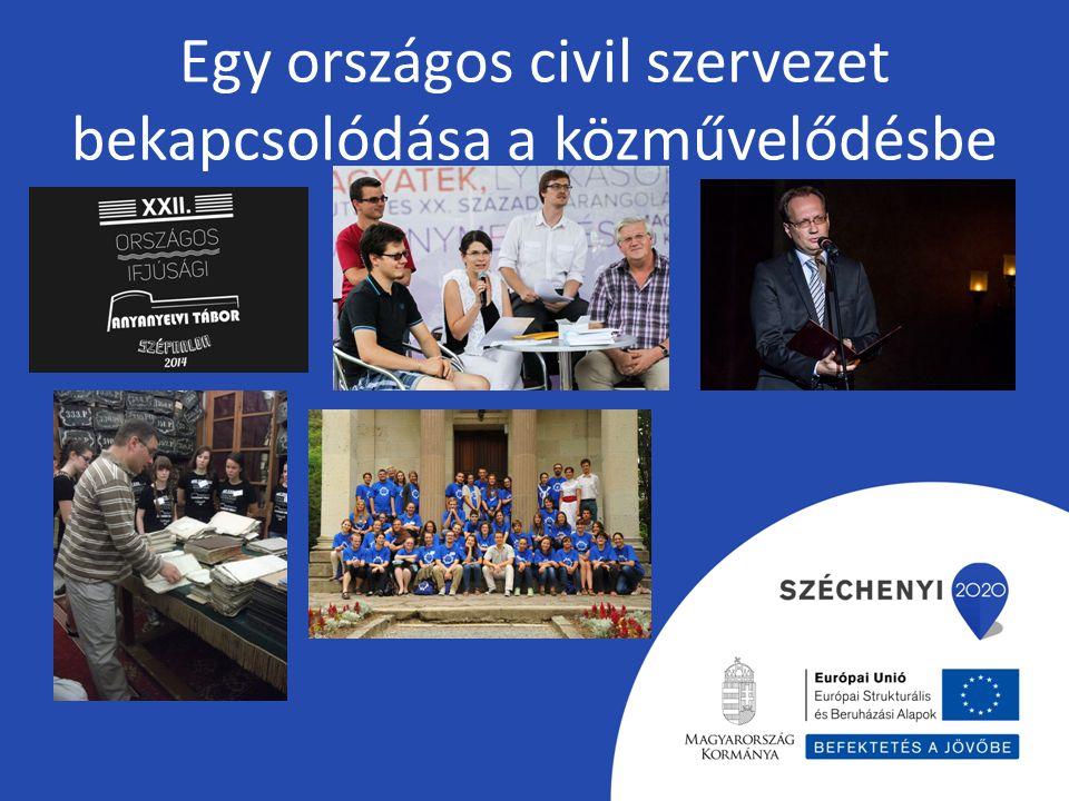 Egy országos civil szervezet bekapcsolódása a közművelődésbe