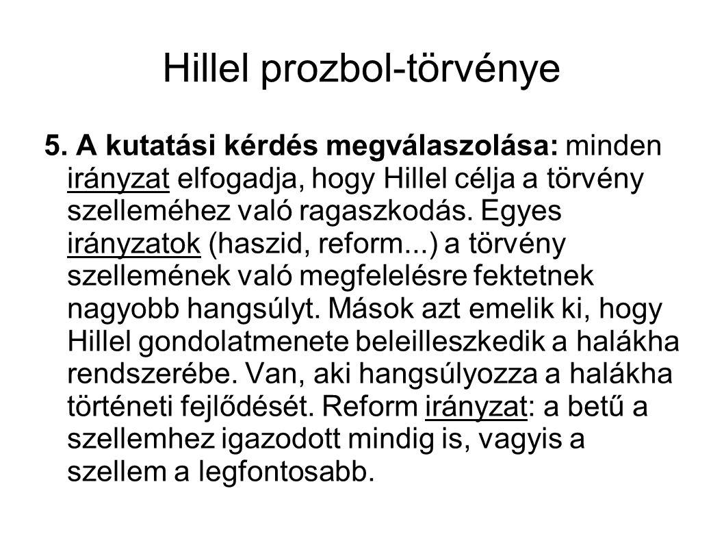 Hillel prozbol-törvénye 5.