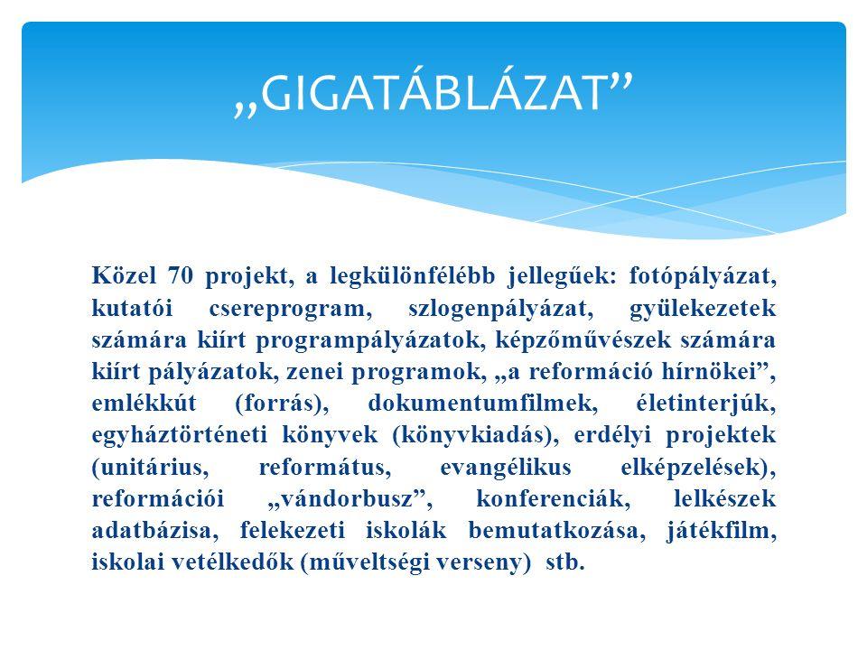  Prioritások: fiatalok (már kiírt pályázatok!), vidéki bázisok (pl. Sárvár, Sopron, Debrecen, Csurgó, Tomor), Kárpát-medencei dimenzió. De természete