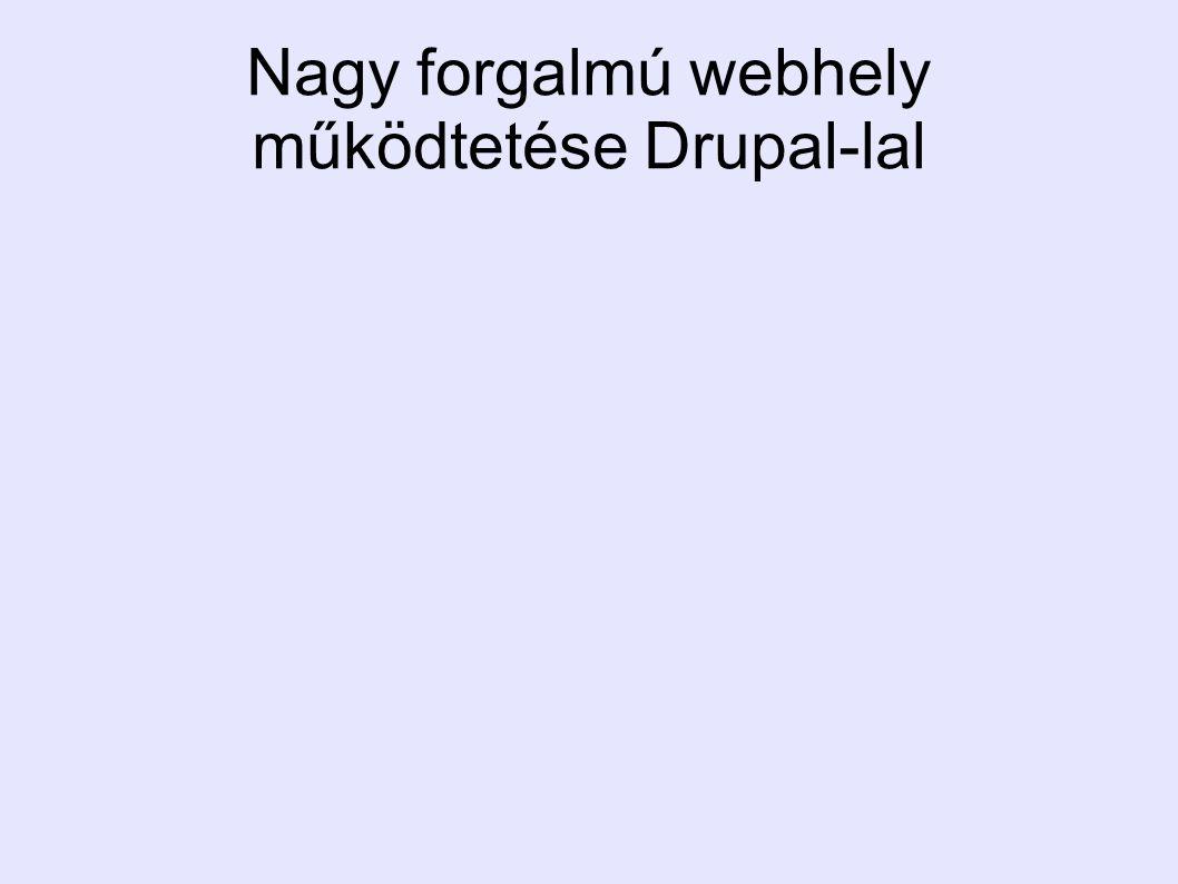 Nagy forgalmú webhely működtetése Drupal-lal
