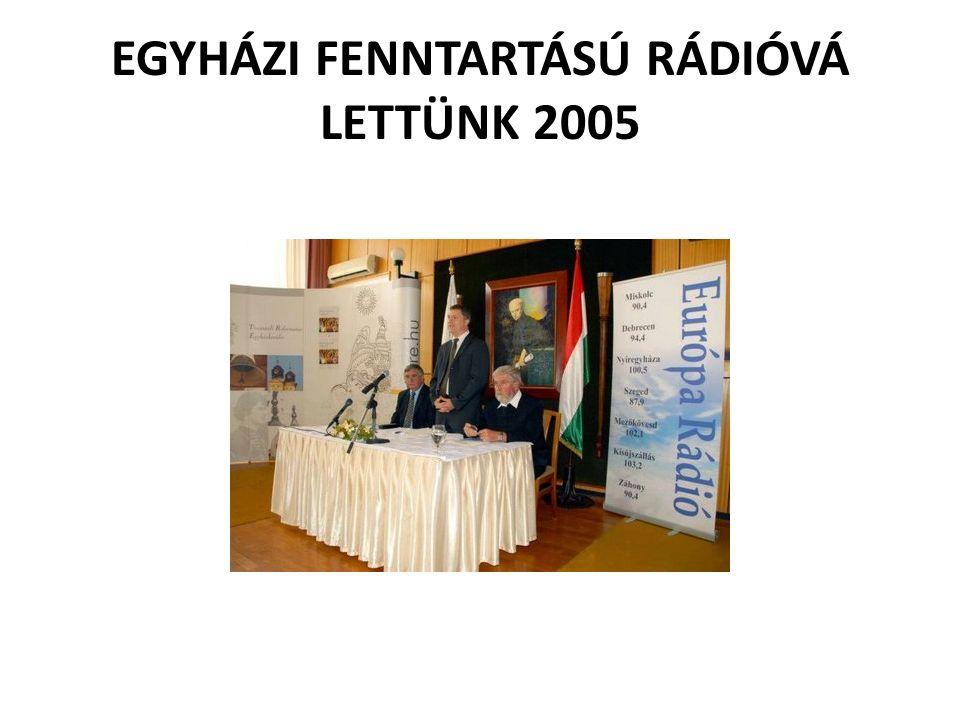 EGYHÁZI FENNTARTÁSÚ RÁDIÓVÁ LETTÜNK 2005