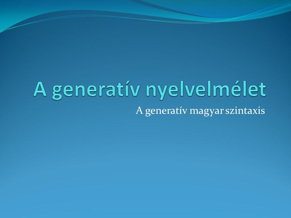 A generatív magyar szintaxis