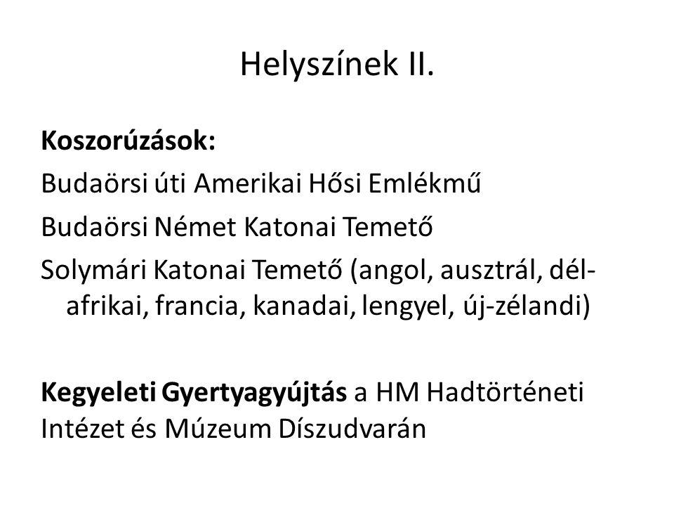 Helyszínek II.