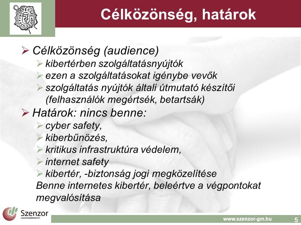 16 www.szenzor-gm.hu Elérhetőség Móricz Pál Mobil: 20-931-0584 p.moricz@szenzor-gm.hu Szenzor Gazdaságmérnöki Kft.