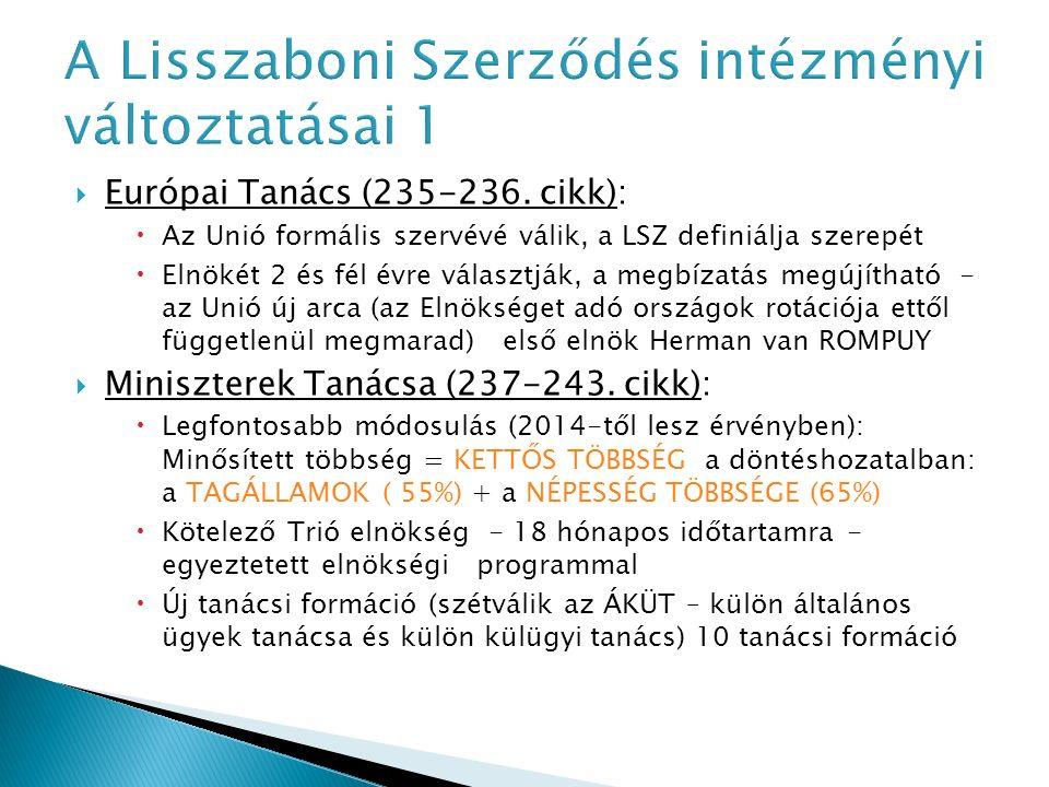 Jogalkotási aktusok EUMSz.289.