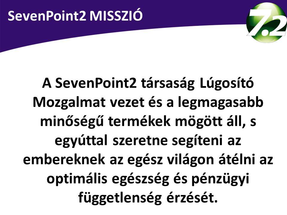 SevenPoint2 MISSZIÓ A SevenPoint2 társaság Lúgosító Mozgalmat vezet és a legmagasabb minőségű termékek mögött áll, s egyúttal szeretne segíteni az emb