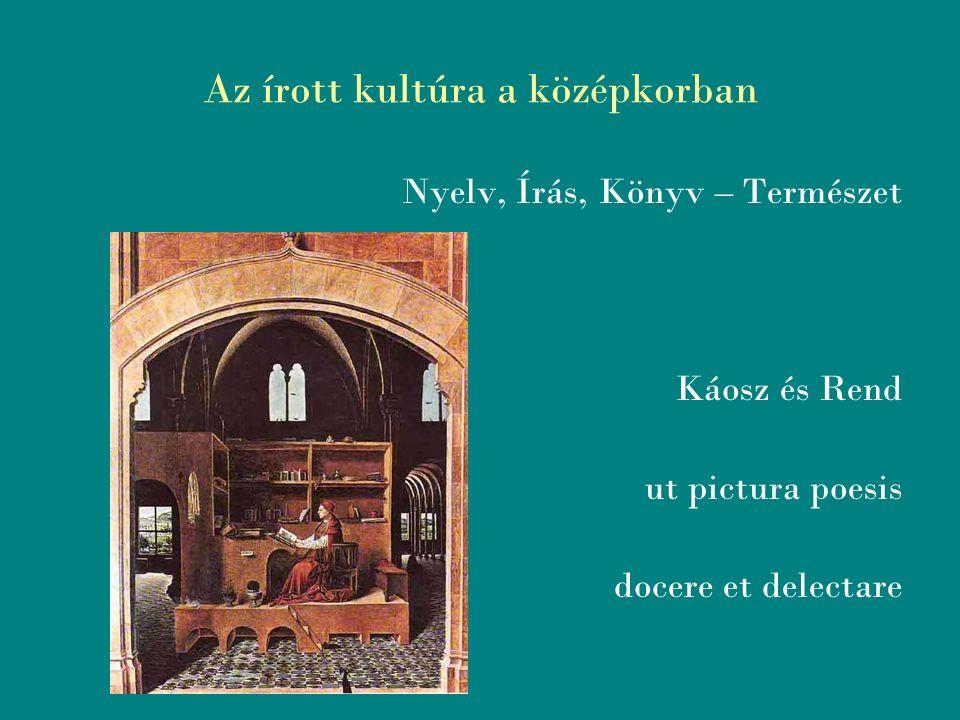 Az írott kultúra a középkorban HORTUS CONLCUSUS Santa Chiara, Nápoly