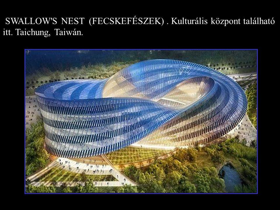 SWALLOW S NEST (FECSKEFÉSZEK). Kulturális központ található itt. Taichung, Taiwán.