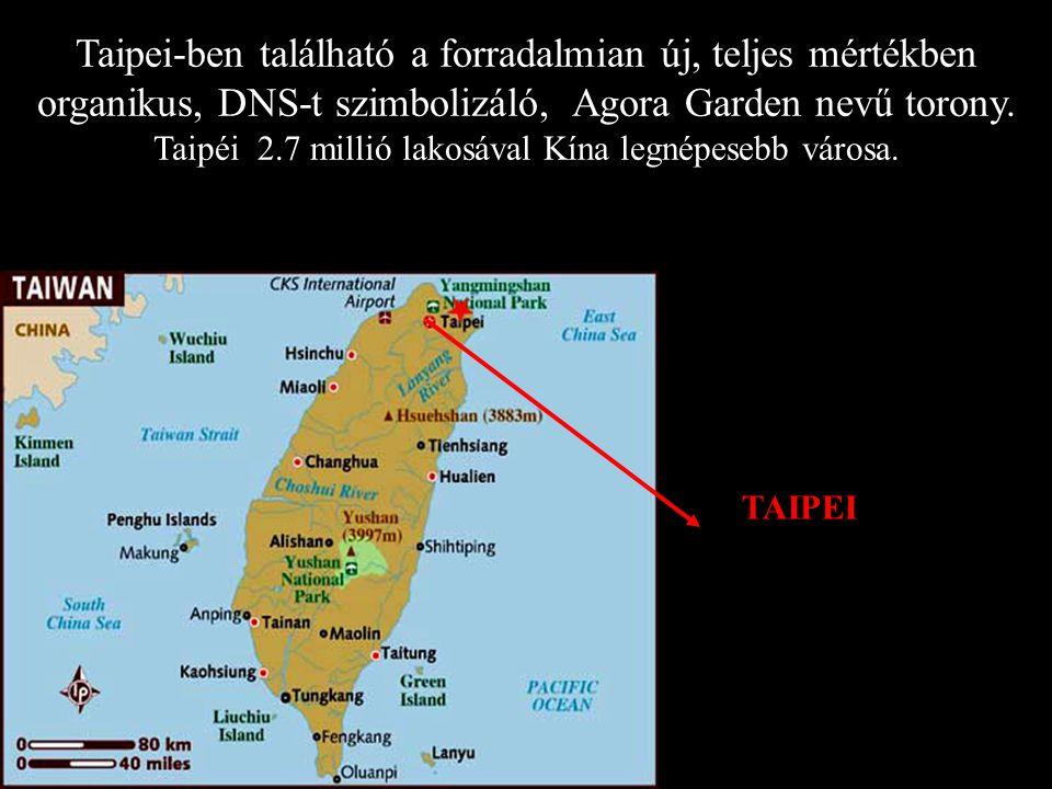 TAIPEI Taipei-ben található a forradalmian új, teljes mértékben organikus, DNS-t szimbolizáló, Agora Garden nevű torony.