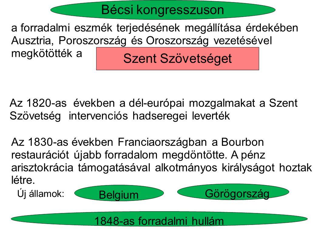 Polgári állam azonosságtudatot követel polgáraitól Biztosítja polgárai számára az alkotmányos szabadság jogokat (cenzusos választó jog) Az élet valamennyi területét az irányítása alá vonta (hivatalnokok számának növekedése) A XIX.