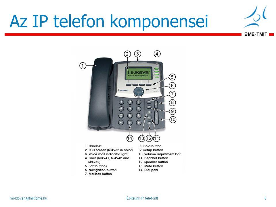 BME-TMIT Az IP telefon komponensei Építsünk IP telefont!5moldovan@tmit.bme.hu