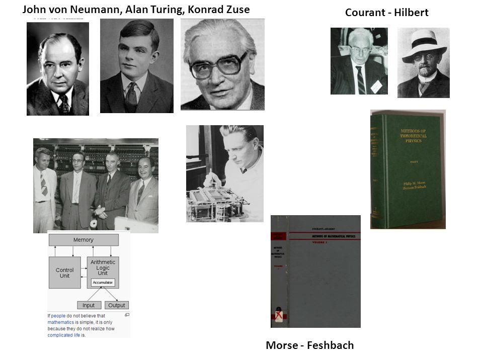 John von Neumann, Alan Turing, Konrad Zuse Courant - Hilbert Morse - Feshbach