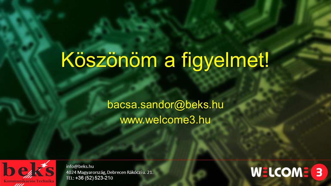 info@beks.hu 4024 Magyarország, Debrecen Rákóczi u.