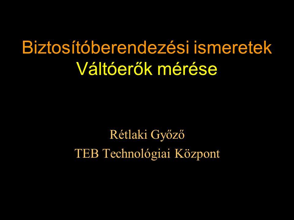 Biztosítóberendezési ismeretek Váltóerők mérése Rétlaki Győző TEB Technológiai Központ