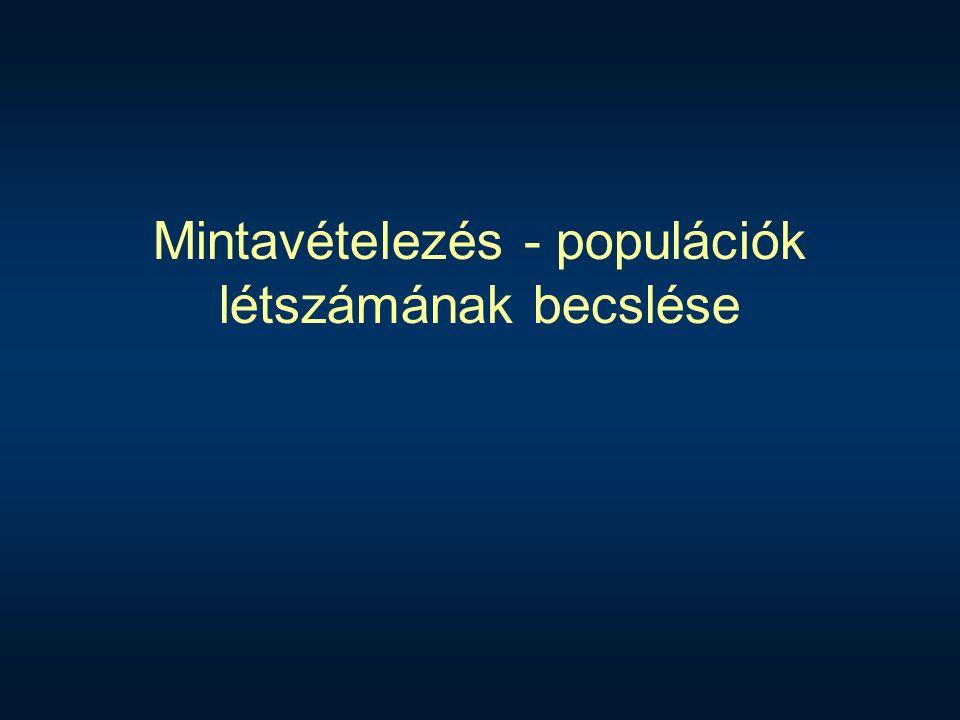 Mintavételezés - populációk létszámának becslése