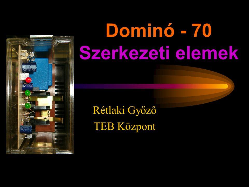Dominó - 70 Szerkezeti elemek Rétlaki Győző TEB Központ
