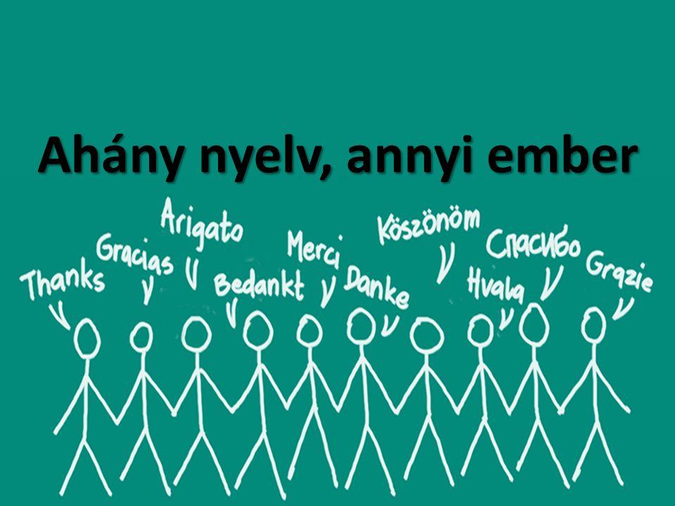 Ahány nyelv, annyi ember