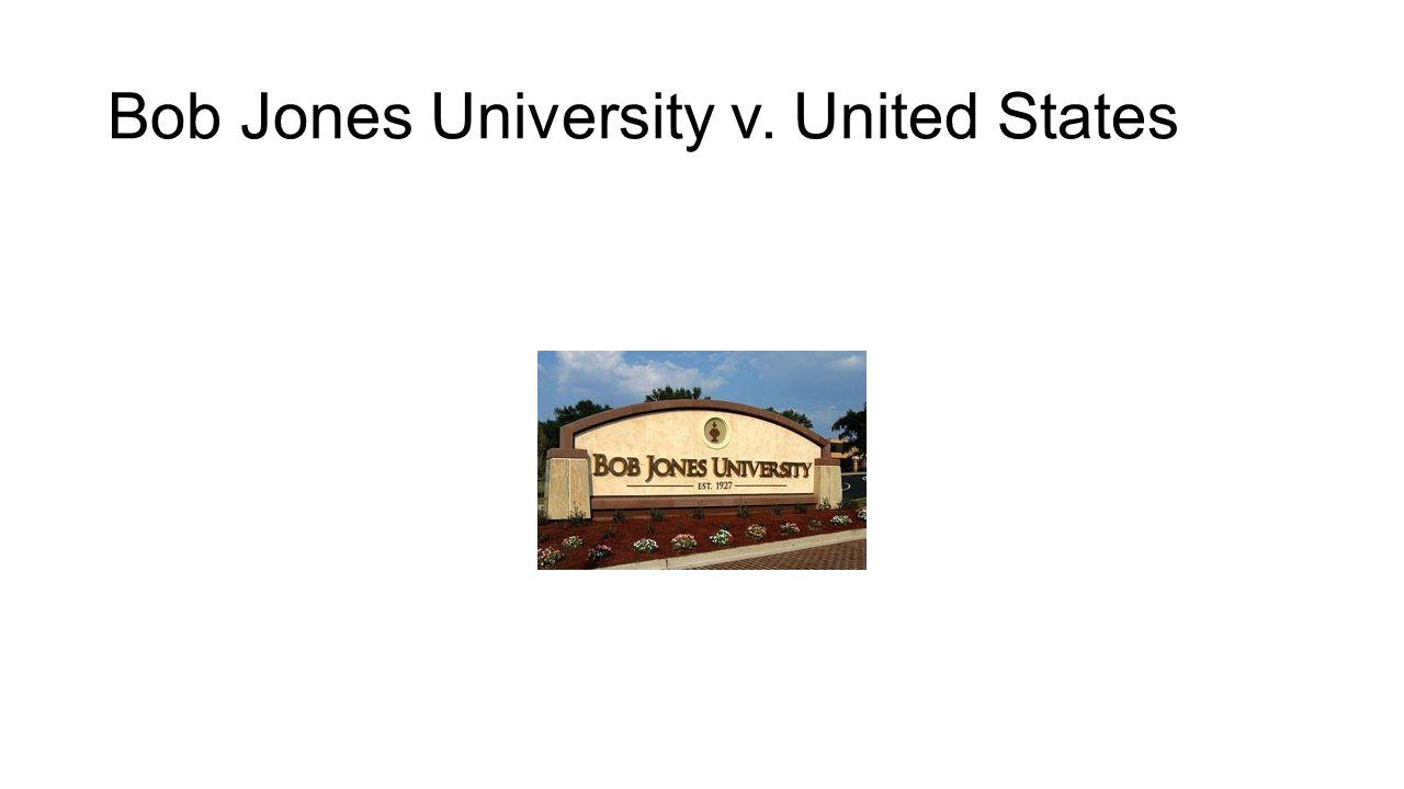 Bob Jones University v. United States