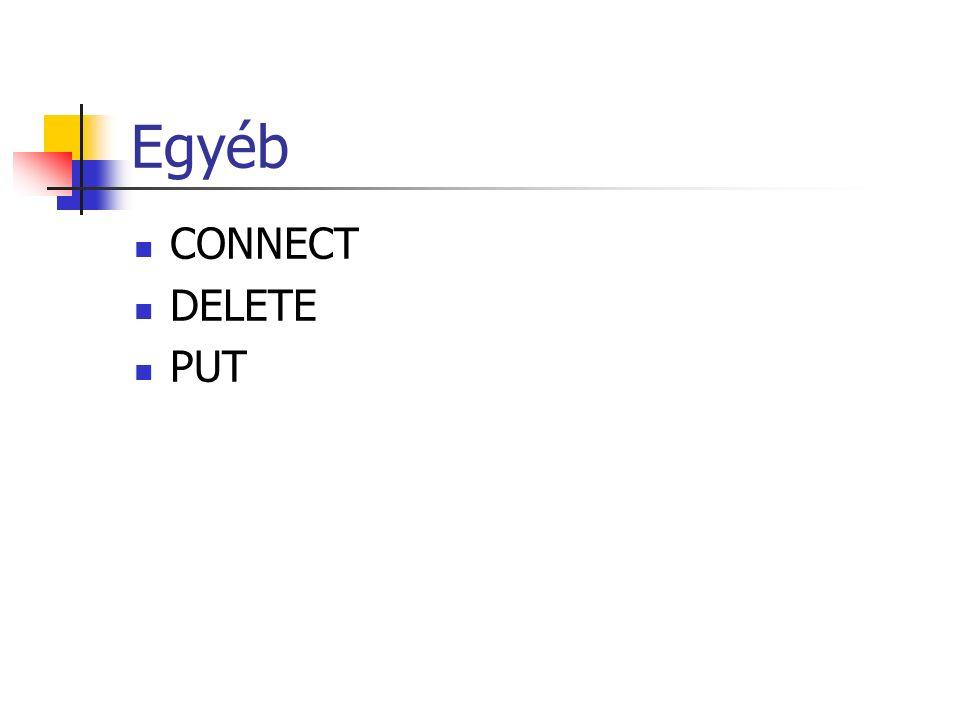 Egyéb CONNECT DELETE PUT