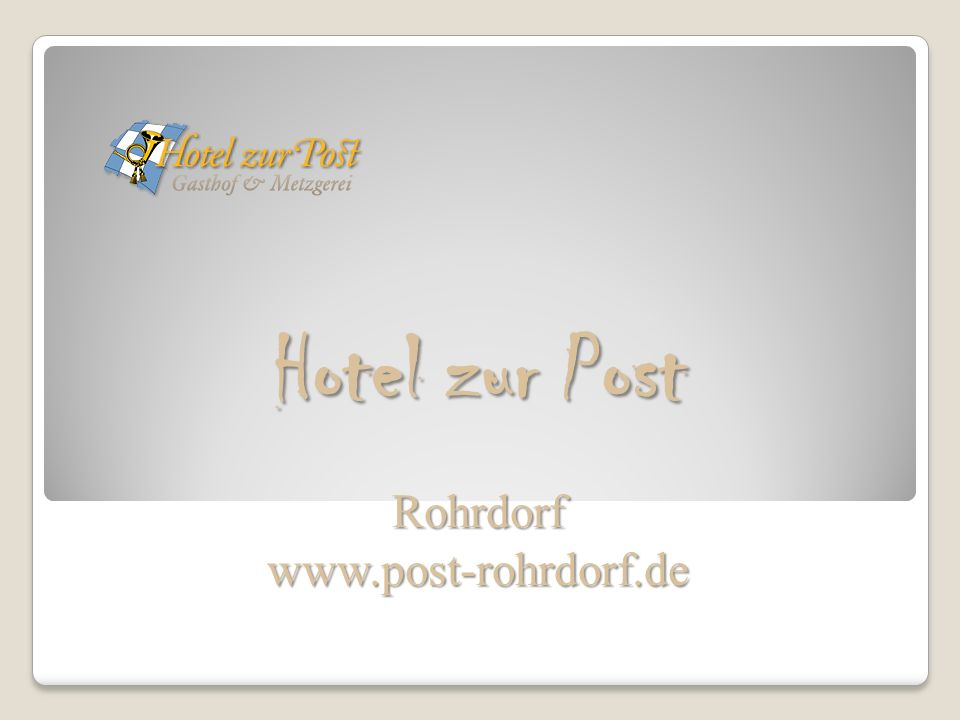 Hotel zur Post Rohrdorfwww.post-rohrdorf.de