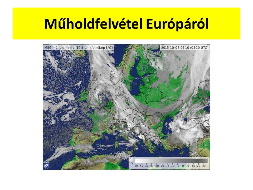 Műholdfelvétel Európáról