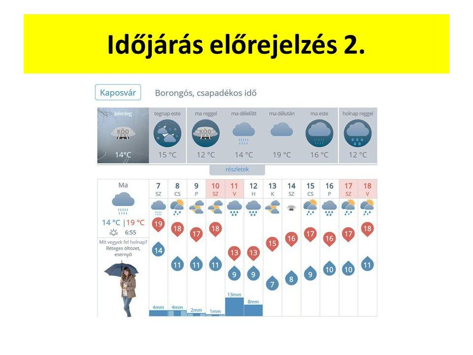 Időjárás előrejelzés 2.