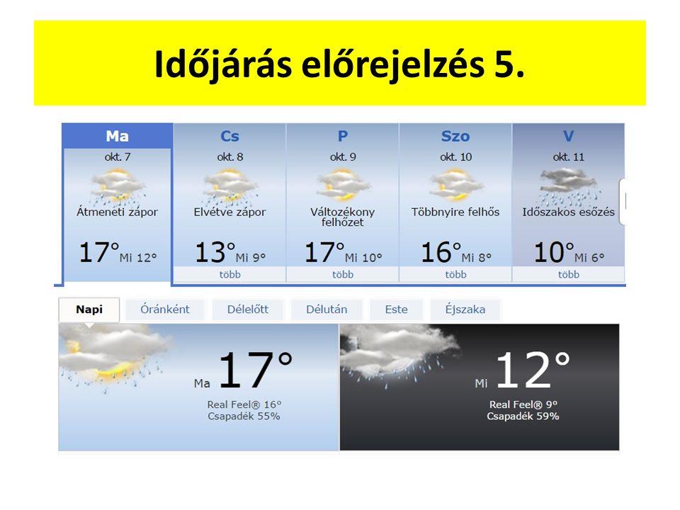 Időjárás előrejelzés 5.