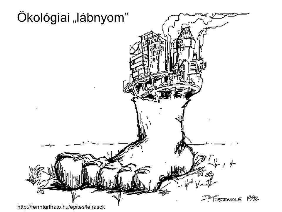 """Ökológiai """"lábnyom"""" http://fenntarthato.hu/epites/leirasok"""