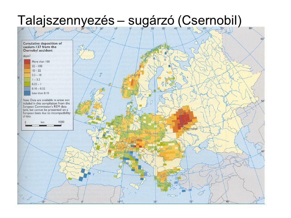 Talajszennyezés – sugárzó (Csernobil)